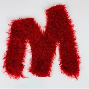 Fuzzy Cozy Red Neck Scarf